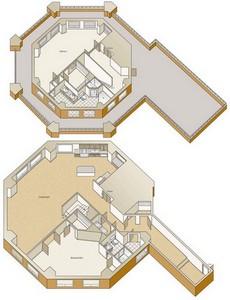 Layout of B17P floor plan.