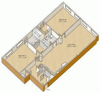 Layout of B21 floor plan.