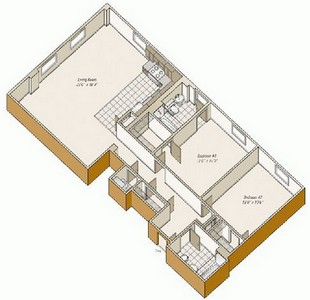 Layout of B22 floor plan.