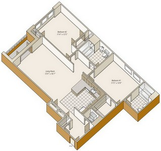 Layout of B31 floor plan.