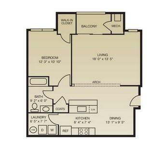 Layout of The Terracina floor plan.