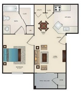 Layout of A floor plan.
