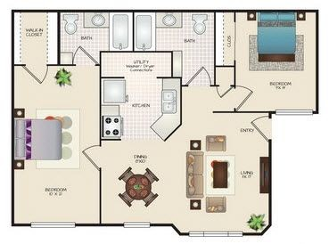Layout of C2 floor plan.