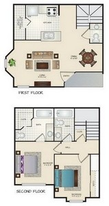 Layout of G floor plan.