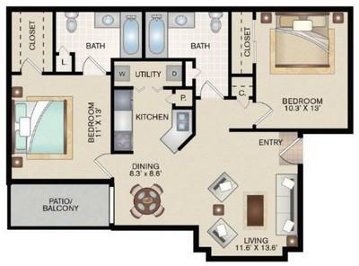 Layout of C floor plan.