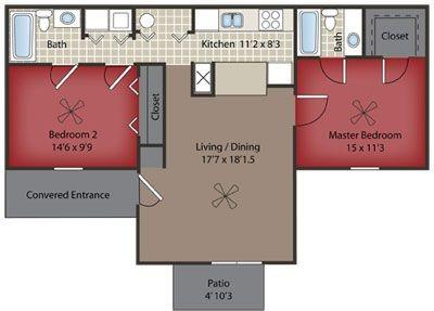 Layout of Cypress Upper Level floor plan.