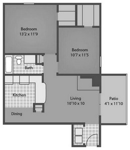 Layout of Leon floor plan.