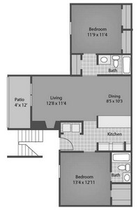 Layout of Lafayette floor plan.