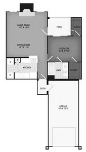 Layout of Hanford Reach with Garage floor plan.