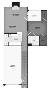 Layout of Pocomoke with Garage floor plan.