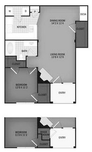 Layout of Blackfoot Bend floor plan.
