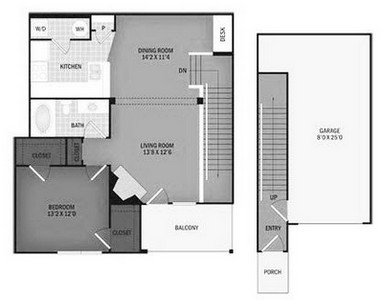 Layout of Pinto Creek floor plan.