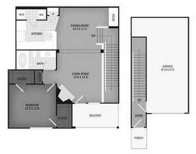 Layout of Pinto Creek with Garage floor plan.