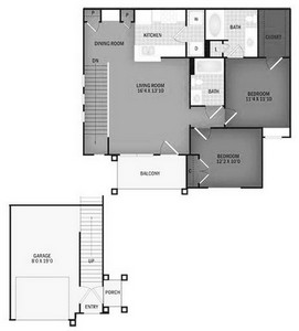 Layout of Crooked Creek floor plan.