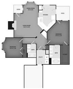 Layout of The Rogue floor plan.