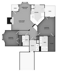Layout of The Rogue with Garage floor plan.