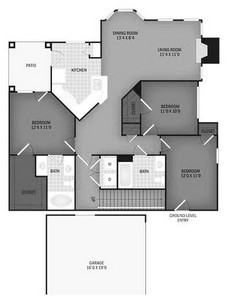 Layout of Potomac floor plan.