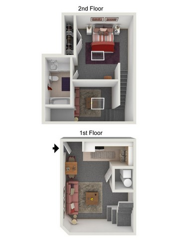 One Bedroom Loft  Image