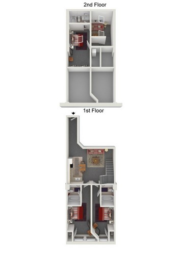 Three Bed/Three Bath Image