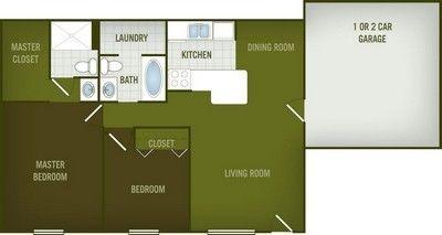 Layout of Comal floor plan.