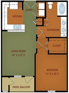 Layout of A3/A3S Collina Verde floor plan.