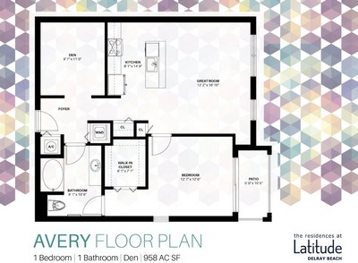 Layout of Avery floor plan.
