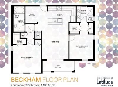 Layout of Beckham floor plan.
