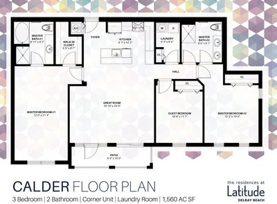 Layout of Calder floor plan.