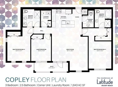 Layout of Copley floor plan.