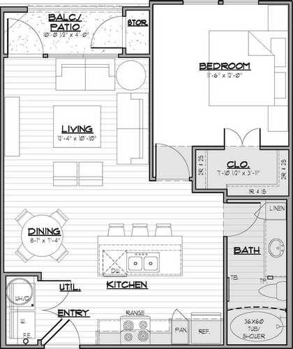 One Bedroom  Image