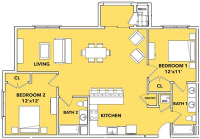 Layout of Luster  floor plan.