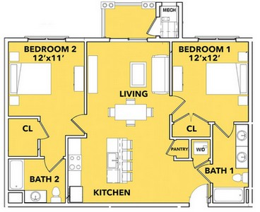 Layout of Daystar  floor plan.