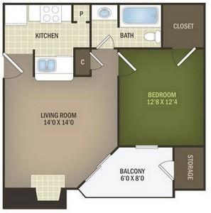 Layout of Chestnut Alternate floor plan.