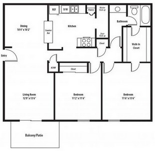 Layout of Chadwick Classic floor plan.
