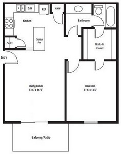 Layout of Windsor Classic floor plan.
