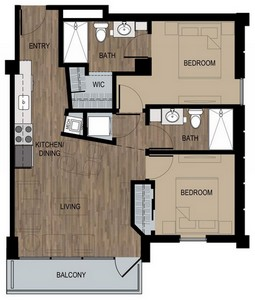 Layout of Van Morrison floor plan.