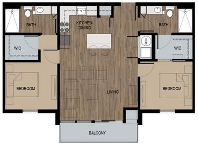 Layout of Hendrix floor plan.