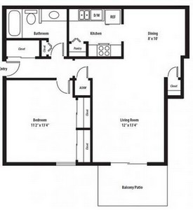 Layout of Hartford Renovated floor plan.