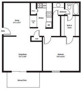 Layout of Manchester Renovated floor plan.