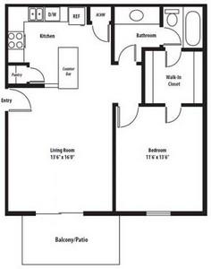 Layout of Windsor Renovated floor plan.