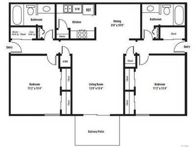 Layout of Kingswood Renovated floor plan.