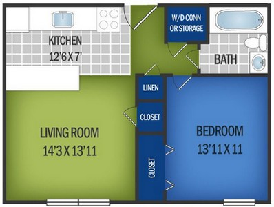 Layout of Driftwood floor plan.