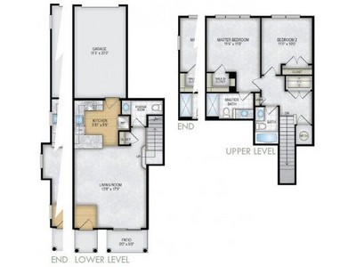 Layout of The Aspen floor plan.