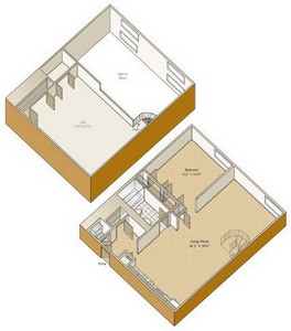 Layout of A23L floor plan.