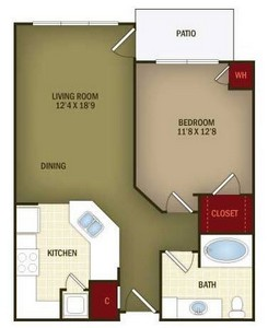 Layout of A1 floor plan.