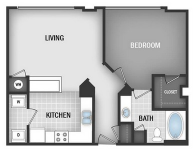 Layout of A1A floor plan.