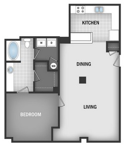 Layout of A1C floor plan.