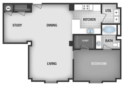 Layout of AD2 floor plan.
