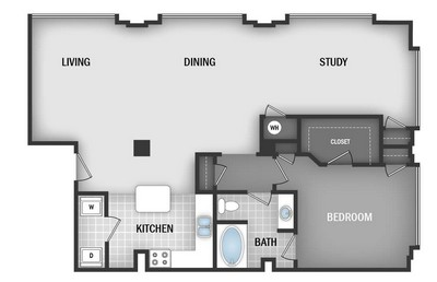 Layout of AD3 floor plan.