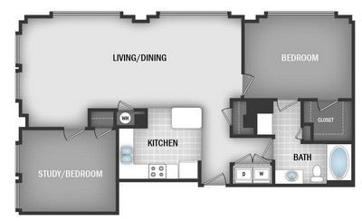 Layout of AD4 floor plan.
